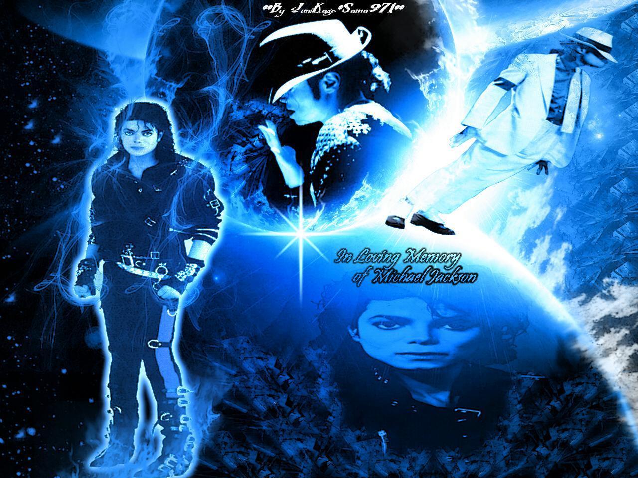 MJ In Da Blue Cosmos
