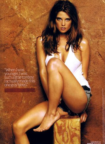 Ashley Greene wallpaper probably containing skin called Maxim (Dec 08)