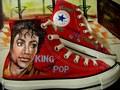 Michael on Convers (hand painted) - michael-jackson photo