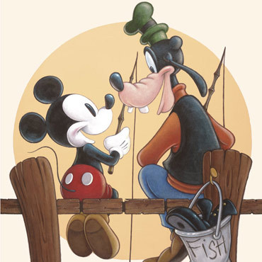 Mickey and Goofy friends forever