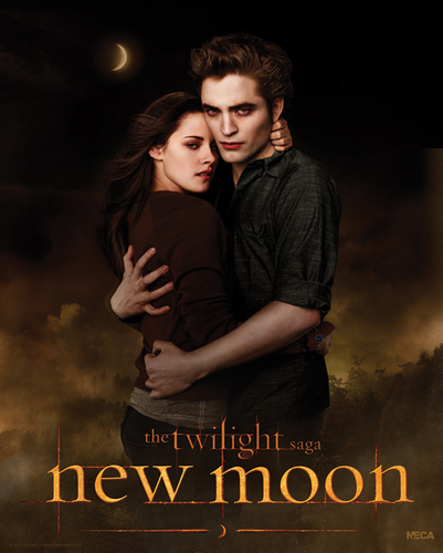 New Poster from New Moon (Edward & Bella are so hot together...aaaaah!!! )
