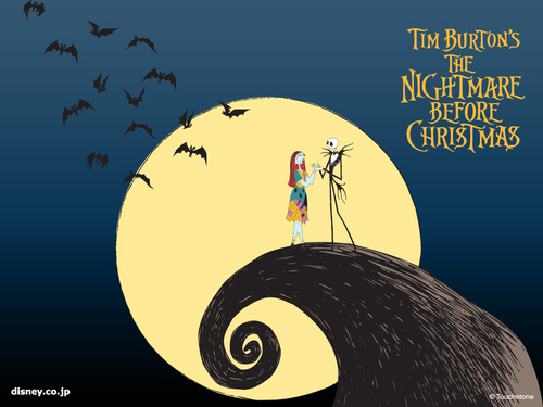 Nightmare Before Krismas kertas dinding
