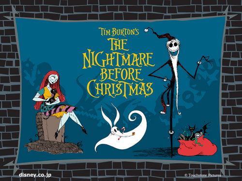 Nightmare Before Christmas wallpaper possibly with a sign titled Nightmare Before Christmas Wallpaper