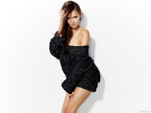 Nina Dobrev wallpaper containing a chemise, a cocktail dress, and a playsuit entitled Nina Dobrev wallpaper