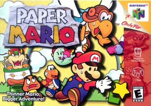 Super Mario Bros wallpaper with Anime titled Paper Mario 1