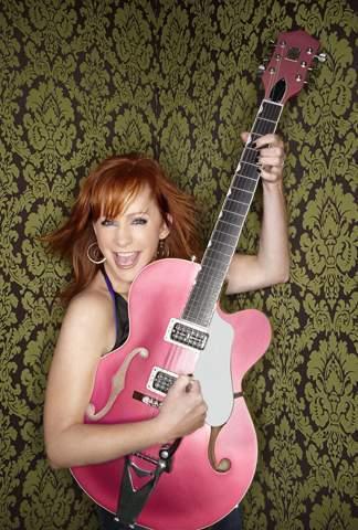 rosa gitarre
