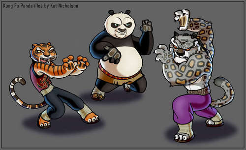 Po, tigresse Vs Tai Lung