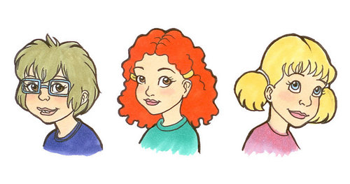 Portraits of Three Best Friends: Macy Lightfoot, Ginger Foutley, and Dodie Bishop