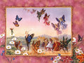 Fairy Butterflies,Wallpaper - butterflies wallpaper