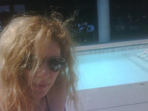 Rachelle Lefevre enjoying NY sun