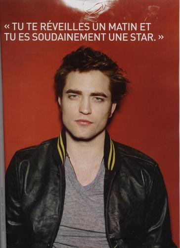 Rob Pattinson - Scans of French Magazine Premiere