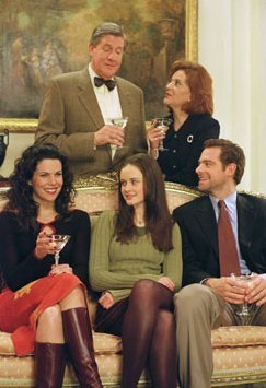 Rory, Lorelai, Chris, Emily & Richard