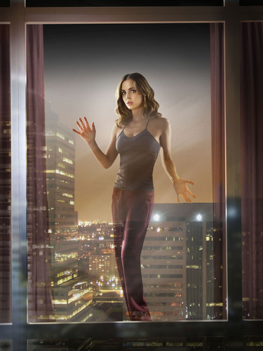 Dollhouse Hintergrund possibly with a leotard, tights, and a bustier called S2 Promo-Echo