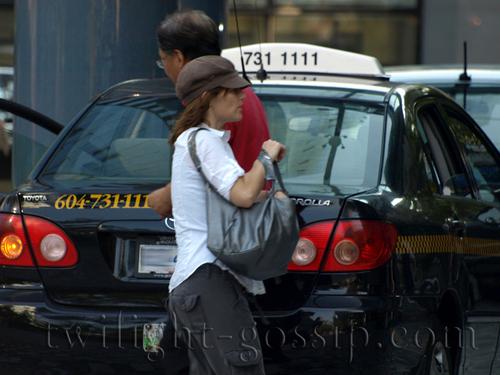 Sarah Clarke (Renée Dwyer, Bella's mother) in Vancouver