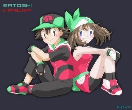 Satoshi(Ash) and Haruka(May)
