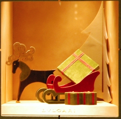 Small jewelry navidad window