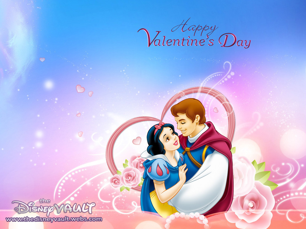 Snow White Valentine's 일 바탕화면