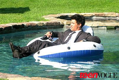 Taylor Lautner in Teen Vogue
