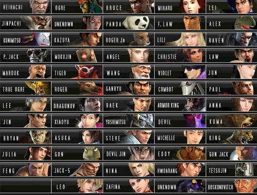 Thiết Quyền 1-6 Characters NEW Roster