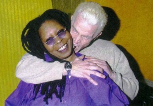 Whoopi Goldberg and James Marsters