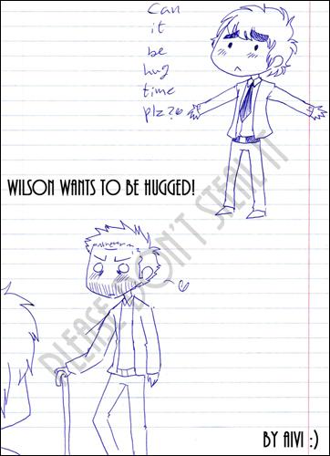 Wilson wants to be hugged!
