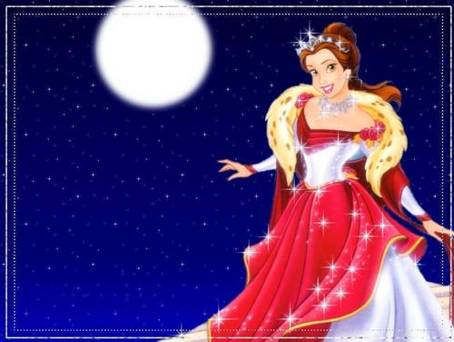 Princess Belle wallpaper probably with a dinner dress and a tea gown entitled belle