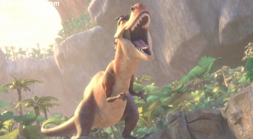 Ice Age 3 Dawn Of The Dinosaurs Wallpaper With A Triceratops Titled
