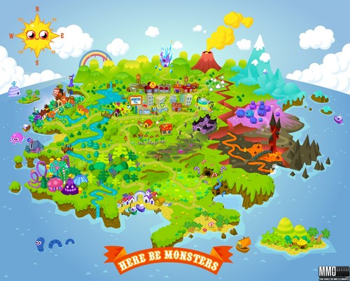 moshi map - moshi-monsters Photo