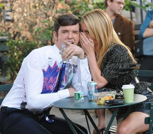 on set of ugly betty- 4th sept/09