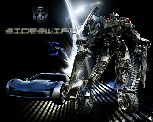 Transformers karatasi la kupamba ukuta containing an internal combustion engine called sideswipe