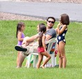 spendng fathers day with his children