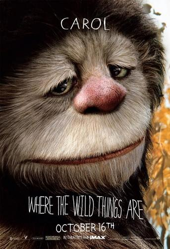 Where The Wild Things Are karatasi la kupamba ukuta called 'Where The Wild Things Are' Movie Characte Poster ~ Carol