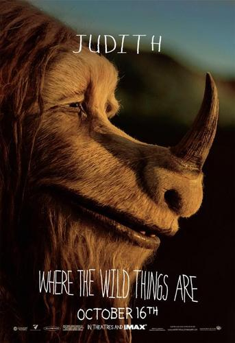 Where The Wild Things Are kertas dinding entitled 'Where The Wild Things Are' Movie Characte Poster ~ Judith