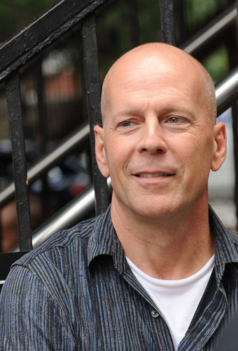 Bruce Willis 바탕화면 possibly containing a revolving door entitled A Couple of Dicks