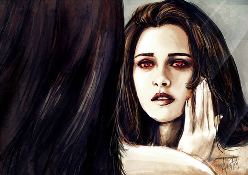Twilight Series پیپر وال probably containing a portrait titled Bella Cullen-Vampire