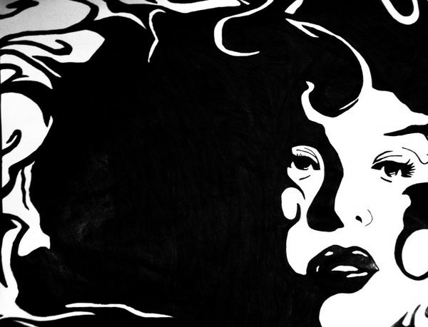 Black And White Drawings Drawing Black And White Face