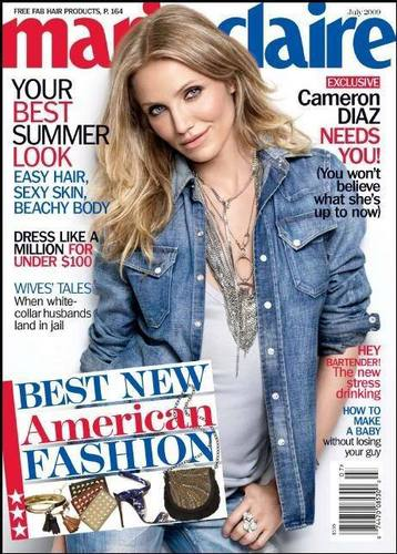 Cameron Diaz as cover in Marie Claire