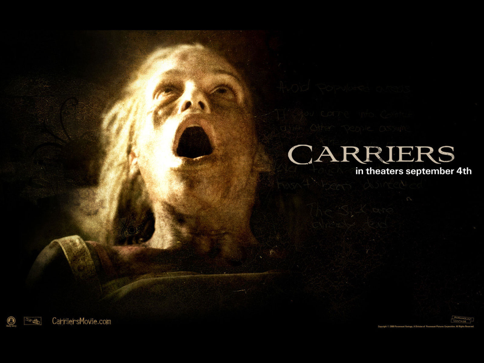 carriers 2009 wallpapers horror movies wallpaper