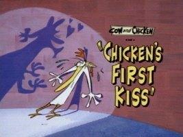 Chicken's 1st kiss