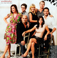 Cougar Town Cast TV Guide Shoot