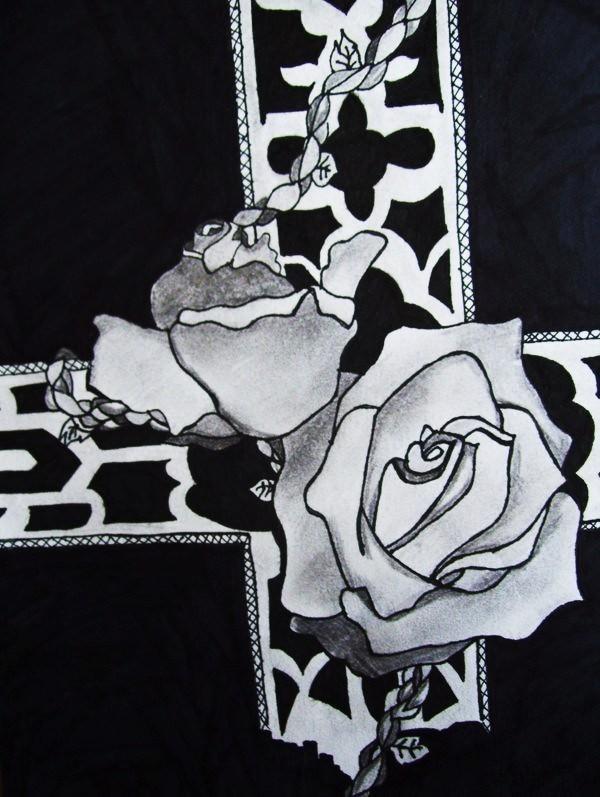 पार करना, क्रॉस and गुलाब