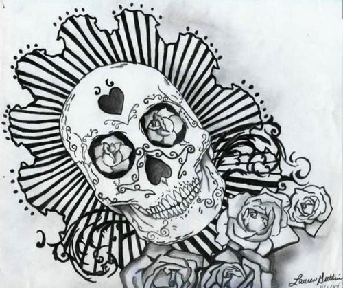 Drawing images Dia De Los Muertos wallpaper and background photos
