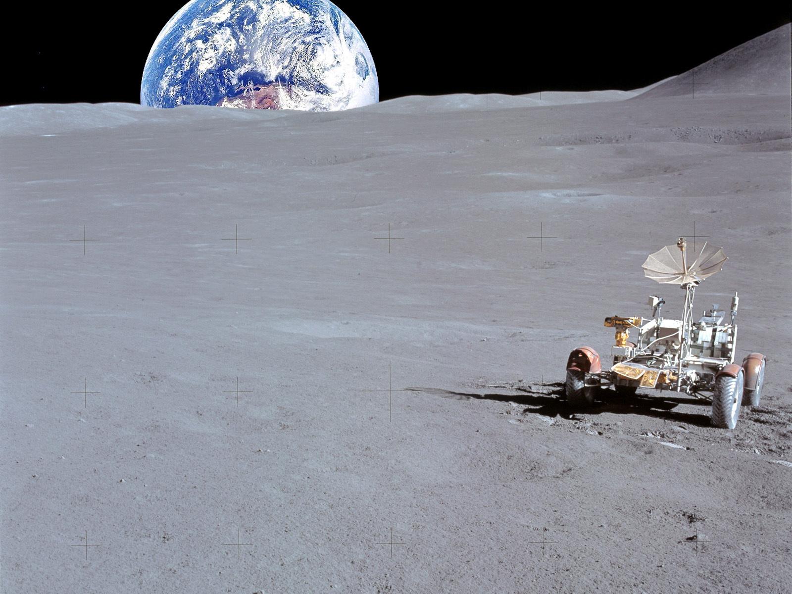 earth seen by moon