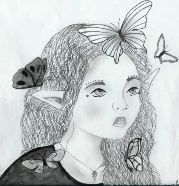 Elf and Butterflies
