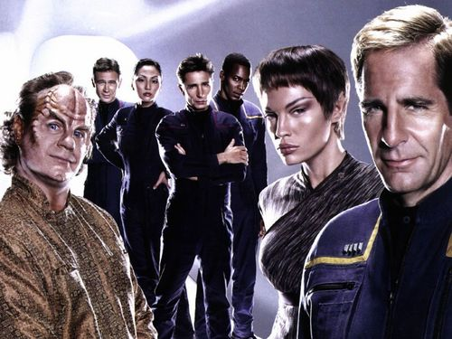 étoile, étoile, star Trek - Enterprise fond d'écran probably containing an outerwear, a business suit, and a portrait entitled Enterprise Crew Portrait
