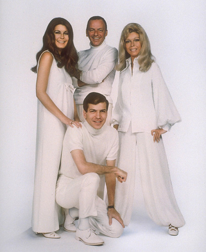 Frank Sinatra wallpaper possibly with a bathrobe and a well dressed person entitled Frank Sinatra and his Children