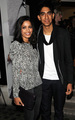 Freida with Dev Patel at a launch party in London