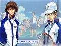 Fuji and Ryoma - prince-of-tennis wallpaper