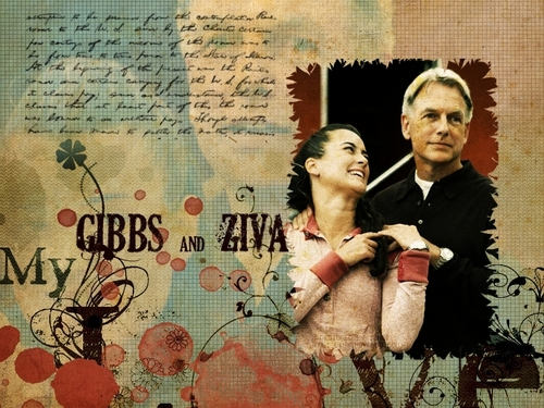 Navy CIS Hintergrund probably with a newspaper titled Gibbs and Ziva