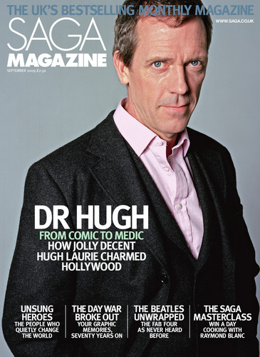 Hugh Laurie - Saga Magazine (UK) Sept '09